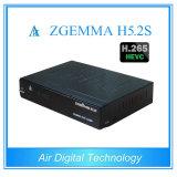 Receptor original Zgemma H5.2s de HD com o receptor satélite cheio do H. 265 Hevc Enigma2 DVB-S2 HD