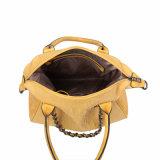 노란 유행 악어 곡물 장식적인 사슬 여자 핸드백 (MBNO041040)