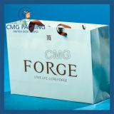 Zoll druckte Folien-Einkaufen-Geschenk-Papierbeutel mit Firmenzeichen-Druck (DM-GPBB-092)