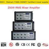 4.1入力チャネル250W RMS /40hmの高い発電の可聴周波ミキサー管のアンプ