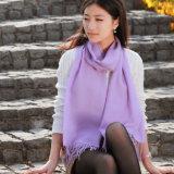 Lenço de lã merino em cores sólidas (12-BR020102-1.7)