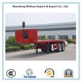 2 Chassis van de Aanhangwagen van de Kipper van de Kipwagen van het Bed van assen de Vlakke Achter van de Fabriek van China