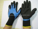 Перчатка работы голубого нитрила покрывать 3/4 и отработанная формовочная смесь Coatin на ладони (N1572)