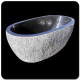 Sift-Proof bañera de piedra de granito gris oscuro