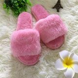Nuovi pistoni di Snoozies della pelliccia del Faux del coniglio di alta qualità del ricamo di disegno
