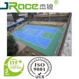 De kleurrijke Harde Dekking van de Tennisbaan van de Bevloering van het Hof van de Sport voor de OpenluchtOppervlakte van de Bevloering van de Sport