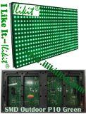 Étanche extérieur SMD P10 Modules LED de couleur verte, l'écran, écran de panneau, signer