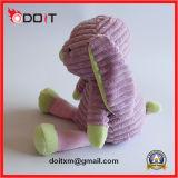 Juguete relleno conejito púrpura del animal doméstico del juguete del perro