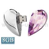 De hart Gevormde Schijf van de Flits van de Juwelen USB van de Diamant met Riem, Speciaal voor de Giften van de Dag van Valentijnskaarten