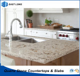 SGSのレポート(大理石カラー)を用いるホーム装飾の建築材料のための卸し売り水晶カウンタートップ