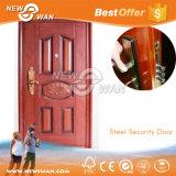 Porta de segurança de aço com controle de fogo para porta de entrada de apartamento