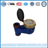 De blauwe Meter van het Water van het Gietijzer Verticale