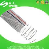 Mangueira espiral reforçada plástico da descarga industrial da tubulação do fio de aço do PVC