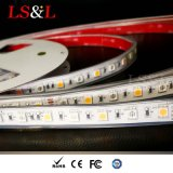 Cuerda impermeable Lightinng decorativo del Striplight del LED RGB+Amber