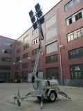 Foldable 유압 LED 등대 오스트레일리아 기준 SAA는 9m 등대 플랜트 장비 기계 정착물 해결책을 증명했다