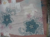 Voile de algodón bordado con mosaico