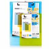 Plastic A5 Clipboard with Rulings Metal Transparent Clip Color