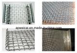 鉱山のためのひだを付けられた金網、正方形の金網(電流を通された、ステンレス鋼)