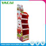 As lojas especializadas de exposições de segurança piso suporte de monitor de papelão de papel