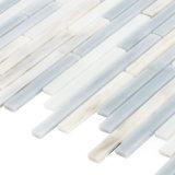 カラーシートのBacksplashの白いおよび灰色壁の長方形の小さいガラスモザイク・タイル