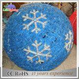 Sfera chiara blu dell'ornamento della decorazione di motivo del fiocco di neve LED della ghirlanda