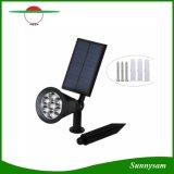 7 [لد] سيارة [كلور-شنجنغ] شمسيّة مصباح كشّاف إنارة خارجيّة شمسيّة يزوّد أمن منظر طبيعيّ جدار مرج ضوء