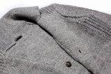 Tejido de lana mohair acrílico Hombres chaqueta con el botón