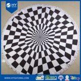 習慣によって印刷されるアズテック派のふさの円形のビーチタオル