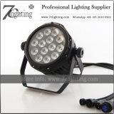 IP65 Waterproof luzes da lavagem da PARIDADE do diodo emissor de luz da iluminação 14X12W RGBW da decoração para ao ar livre