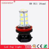 공장 직매 LED 정면 안개 램프 H8 H11 18SMD LED 안개등 전구 High-Power 반대로 안개 램프