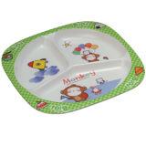 100 % de la mélamine vaisselle- Kid's 3-divisé Food-Grade/la plaque de la mélamine vaisselle (BG803)