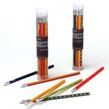 Lápiz de madera con goma de borrar lápiz Lápiz de Color