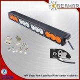 '' rangée 120W 21.9 simple avec barre blanche/ambre d'éclairage LED de couleur