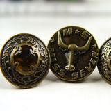 Oeko BV Intertek Ceitificationsの製造業者OEM ODMのロゴの金属ボタン