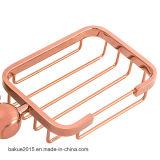 Санитарной мыло установленное стеной Dish&#160 ванной комнаты изделий роскошной; и корзина в золоте Rose