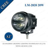 lámpara del trabajo del CREE IP67 LED de 3.2inch 20W para conducir el barco campo a través