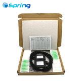 1X16 Caixa de ABS divisor PLC de fibra óptica com a cor preta 2,0mm Cabo e conector SC/APC