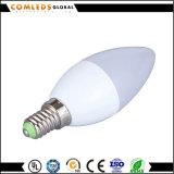 Luz de bulbo do diodo emissor de luz de C37 E14/E27 3W 5W 7W