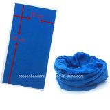 Bandana tubular tingido azul da garganta do poliéster do produto da fábrica de China