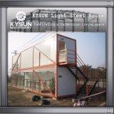 De prefab Structuur die van het Staal het Huis van de Container van 2 Vloer voor Pakhuis bouwen