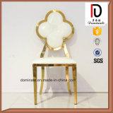 Elegant nam de Gouden Stoel van het Leer van het Frame van het Roestvrij staal Witte voor Eetkamer toe