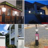 Novo Design Solar Post Light LED Garden Light Outdoor Gate Solar Light Warm and Pure White