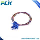 12 coeurs/couleurs SC/UPC Multi-Colored amorces fibre optique monomode