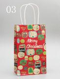 Изготовленный на заказ более дешевый мешок подарка бумаги печатание упаковывая с веревочками