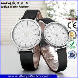 ODM 가죽끈 시계 한 쌍에 의하여 주문을 받아서 만들어지는 형식 손목 시계 (Wy-088GE)