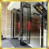 Cor dourada Rosa interior acabamento espelhado Porta de vidro de Aço Inoxidável
