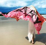 سفر شاطئ يصمّغ وشاح مع أسلوب ورقيقا