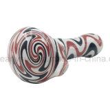 赤く黒い白3カラー混合されたハイブリッドは並べるスプーン手の管ガラス(ES-HP-178)を
