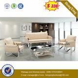 3+1+1 белого цвета Черный кожаный диван для отдыха с углом (HX-CS080)
