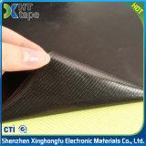 bande à simple face de silicones de tissu de teflon de noir d'épaisseur de 0.13mm